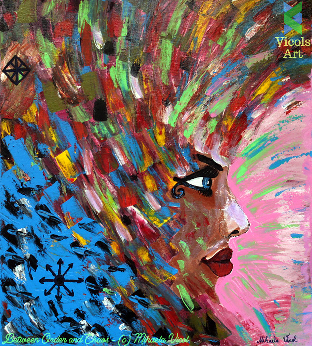 Between Order and Chaos - Acrylic PaintbyMihaela Vicol