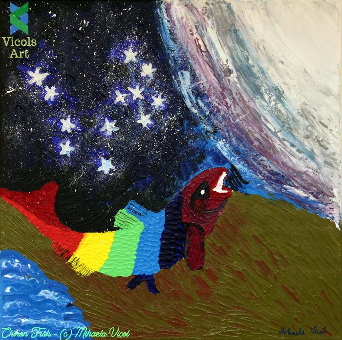Kiron Fish - Acrylic PaintbyMihaela Vicol